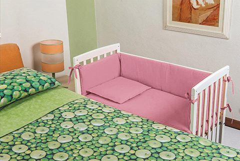 Culle complete - Culla Lella [I81C.02+I381C.01] Struttura bianca - rivestimento rosa by Picci