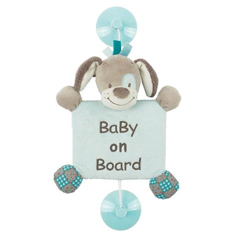 Accessori per il viaggio del bambino - Bebe a Bordo con ventosa - Cyril 531290 by Nattou