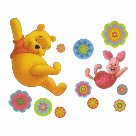 Complementi e decori - Deco stickers DE 40321 Pooh Glitter by Decofun
