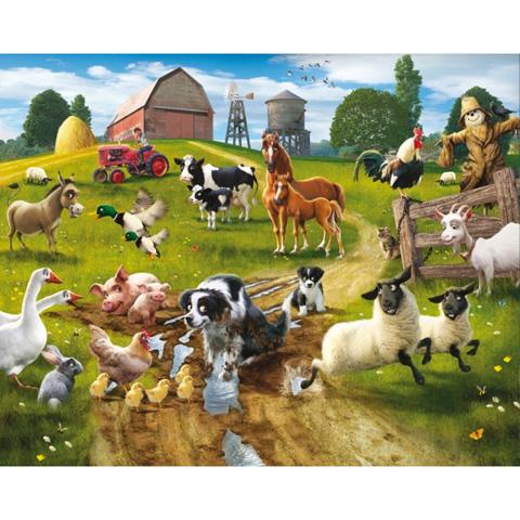Complementi e decori - Divertimento in fattoria - poster murale 12 pannelli FARMYARD FUN - 2013 [41806 - 40267] by Walltastic