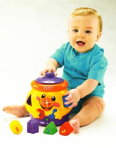 Giocattoli 6+ mesi - Gedeone mangiaforme 1-2-3 H8182 by Fisher Price