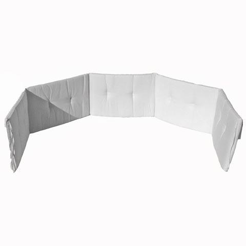 Coperte, lenzuolini e paracolpi - Paracolpi tinta unita 5 lati Bianco by Italbaby