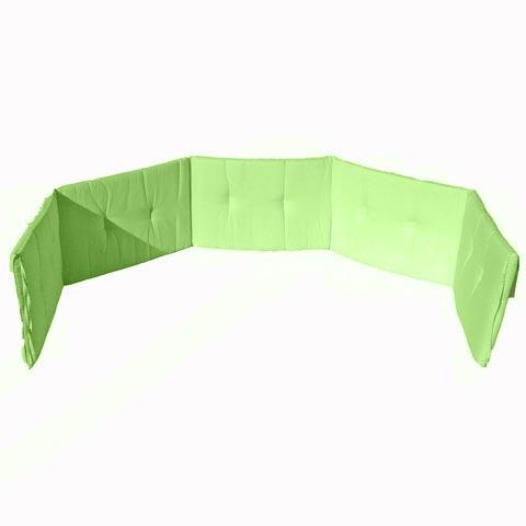 Coperte, lenzuolini e paracolpi - Paracolpi tinta unita 5 lati Verde by Italbaby