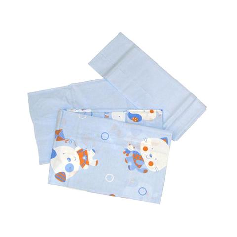 Coperte, lenzuolini e paracolpi - Completo 3 pz. lenzuolini stampato per lettino - Kite azzurro by Somma