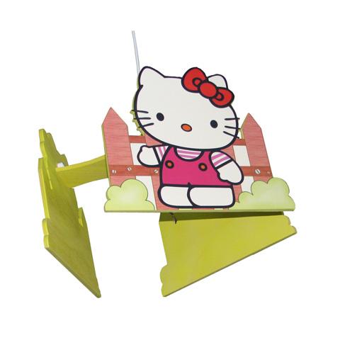 Abbigliamento e idee regalo - Lampadario in legno Hello Kitty HG0 by Culla del Bimbo