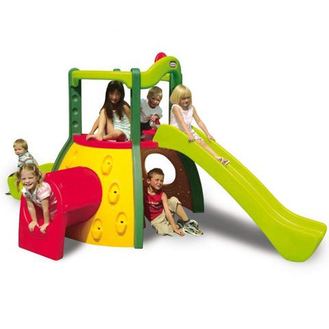 Arrampicatoio con doppio scivolo little tikes 9000445 ebay for Scivolo per bambini usato