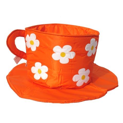 Giocattoli 12+ mesi - Portagiocattoli Coffee cup [tazza + piattino] 109 arancio [flowers] by Lazzari