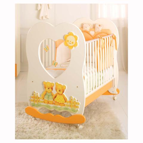 Lettini - Lettino Cuore Panna e arancio by Baby Expert
