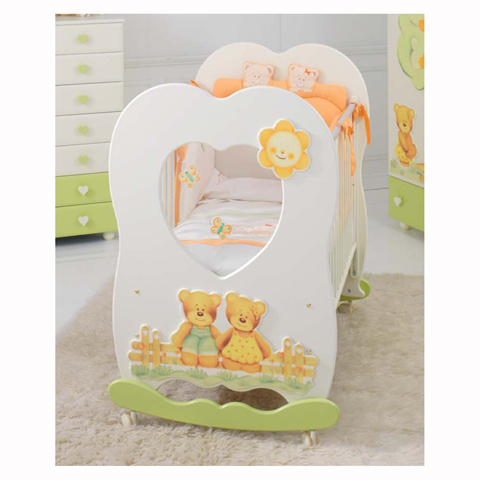 Lettini - Lettino Cuore Panna e verde by Baby Expert