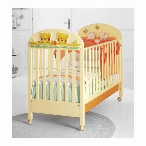 Lettini - Lettino Tenerino Panna e arancio [ad es.] by Baby Expert