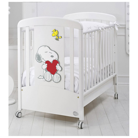 Lettini - Snoopy by Peanuts Bianco/Color rosso by Baby Expert