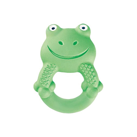 Giocattoli 3+ mesi - Dentaruolo Animal Friends 4 mesi - Max the frog verde by Mam