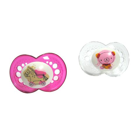 Biberon e succhiotti - 2 Succhietti Original silikonseta 16+ mesi - rosa [20910] by Mam