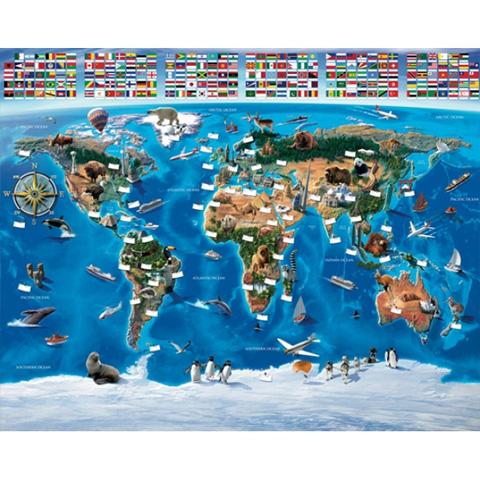 Complementi e decori - La mappa del mondo - poster murale 12 pannelli MAP OF THE WORLD [41851] by Walltastic