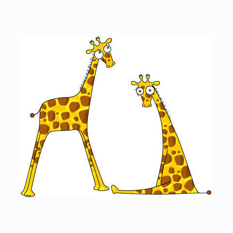 Complementi e decori - I signori Giraffoni cm. 120 x 95 [GOLO10] by Acte Deco