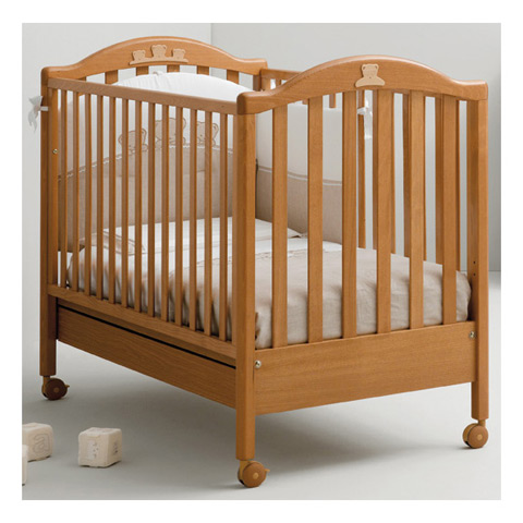 lit barreaux en bois pour b b tender mibb ciliegio ebay. Black Bedroom Furniture Sets. Home Design Ideas
