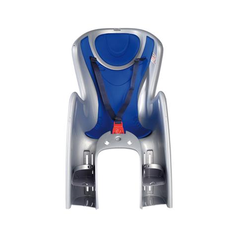 Seggiolini bici - seggiolino posteriore bici Body Guard con sistema di fissaggio al portapacchi 29 Argento-blu  [cod 738] by Okbaby