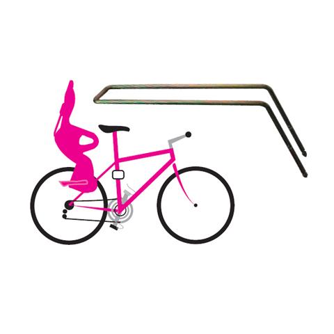 Seggiolini bici - Braccio di supporto per telai bicicletta inclinazione anteriore 37430100 by Okbaby