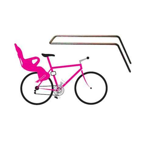 Seggiolini bici - Braccio di supporto per telai bicicletta inclinazione posteriore 37430200 by Okbaby