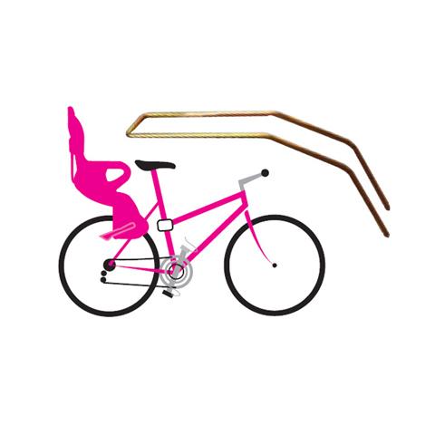 Seggiolini bici - Braccio di supporto per telai bicicletta piccoli e donna 37430700 by Okbaby