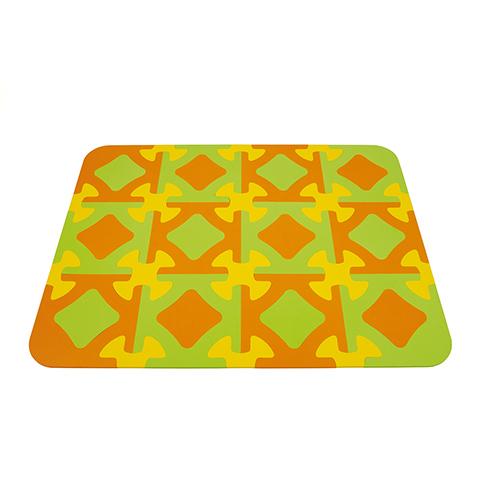 Giocattoli 0+ mesi - Funny - Tappeto Puzzle  12 Tessere Arancio/Verde 34 by Okbaby