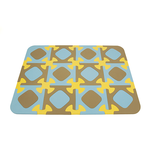 Giocattoli 0+ mesi - Funny - Tappeto Puzzle  12 Tessere Celeste/Grigio 33 by Okbaby