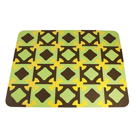 Giocattoli 0+ mesi - Funny - Tappeto Puzzle  20 Tessere Verde/Marrone 32 by Okbaby