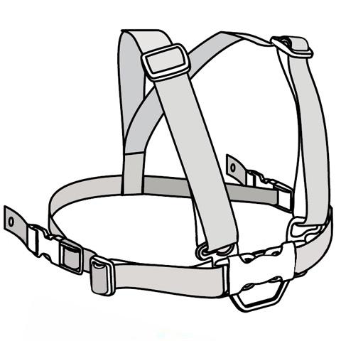 Accessori per la pappa - Cintura di sicurezza Click Clak per Pappy Re ed Eclettika PALI by Pali
