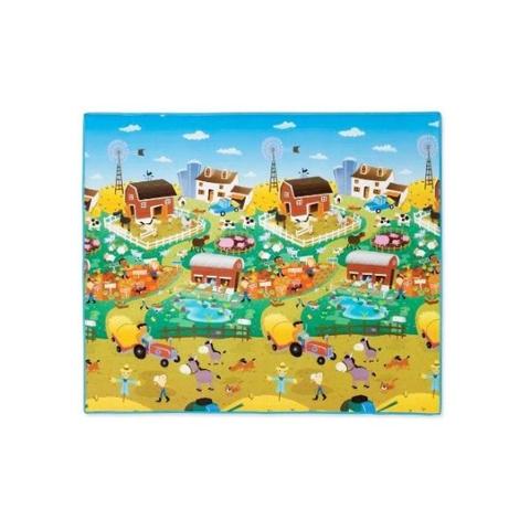 Giocattoli 0+ mesi - Tappeto attività gigante double-face Città / Fattoria [PL7711] by Prince Lionheart