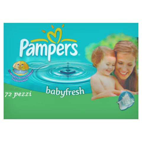 Il cambio (pannolini, etc.) - 72 salviettine Babyfresh PMP by Pampers