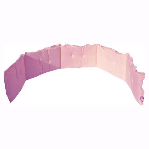 Coperte, lenzuolini e paracolpi - Paracolpi tinta unita 5 lati con volant Rosa by Italbaby