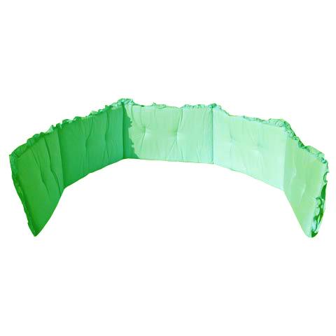 Coperte, lenzuolini e paracolpi - Paracolpi tinta unita 5 lati con volant Verde by Italbaby