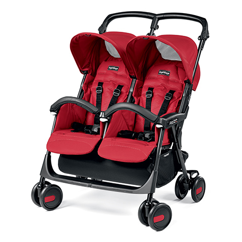 Linea gemellare - Aria Shopper Twin Mod red by Peg Perego