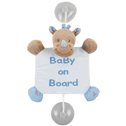 Accessori per il viaggio del bambino - Bebe a Bordo con ventosa - Rino 644358 by Nattou