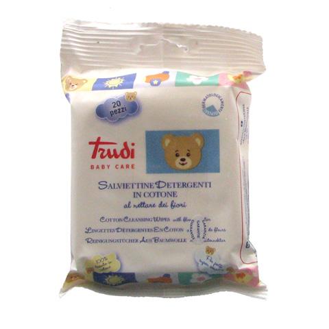 Il cambio (pannolini, etc.) - 20 salviettine detergenti - Trudi baby care 00431 by Silc
