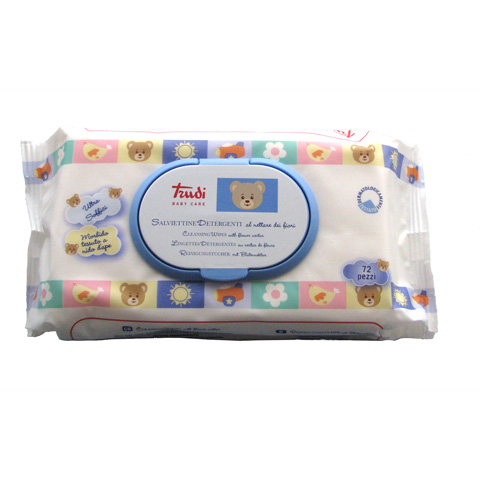 Il cambio (pannolini, etc.) - 72 salviettine detergenti - Trudi baby care 00429 by Silc