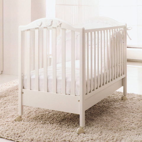 Lettino in legno mibb scintilla bianco ottico ebay for Lettini per bambini