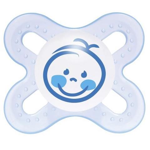 Biberon e succhiotti - 2 Succhietti Start Nan� 0 - 2 mesi - azzurro [20010-1366] by Mam