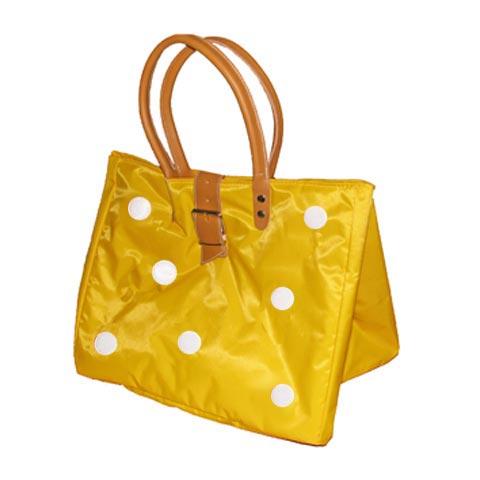 Borse - Borsa Shopping L con bolli 607 giallo by Lazzari
