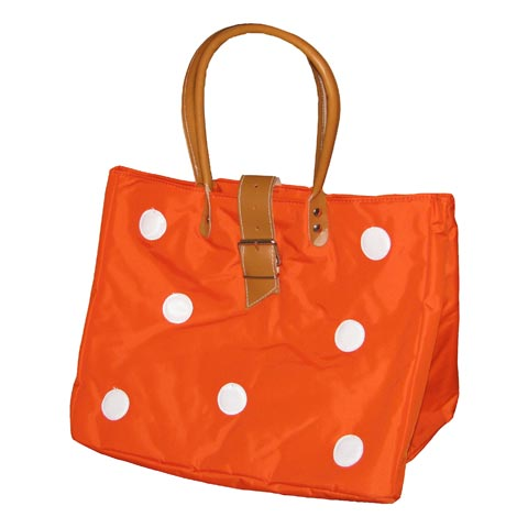 Borse - Borsa Shopping L con bolli 609 arancio by Lazzari