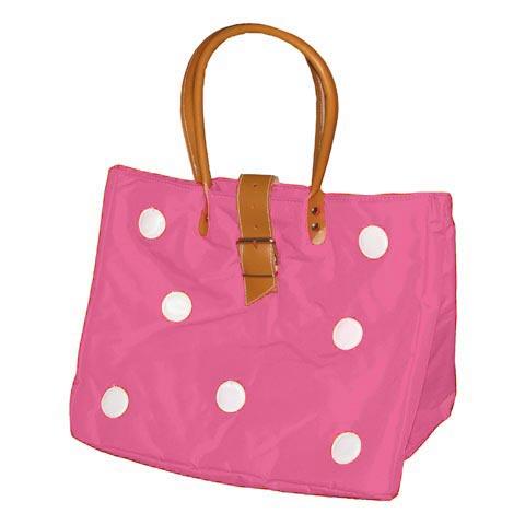 Borse - Borsa Shopping L con bolli 621 rosa by Lazzari