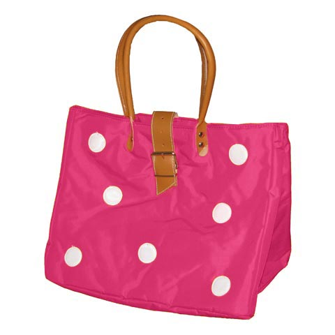 Borse - Borsa Shopping L con bolli 625 fucsia by Lazzari