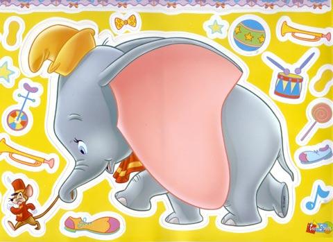 Complementi e decori - Fosforelle - Disney - Midi 13432 - Dumbo & Timothy by Crearreda
