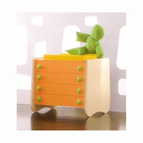 Altri moduli per arredo - Tiberio piano e cassetti mandarino by Tati
