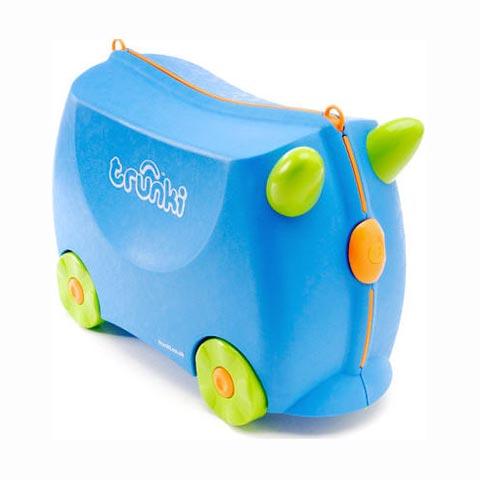 Abbigliamento e idee regalo - Portagiocattoli Valigetta cavalcabile Trunki 001 Terrance Blue by Trunki
