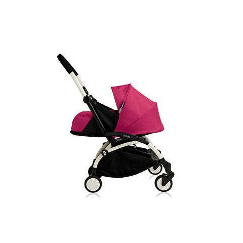 Passeggini - YoYo Plus 0+ mesi Pink - struttura bianca by Babyzen