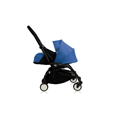 Passeggini - YoYo Plus 0+ mesi Blue - struttura nera by Babyzen
