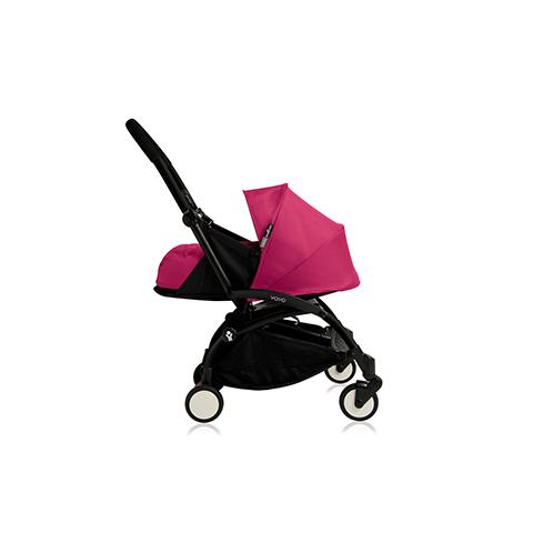 Passeggini - YoYo Plus 0+ mesi Pink - struttura nera by Babyzen