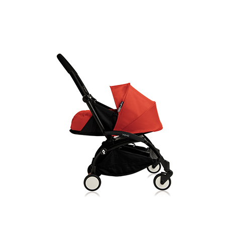 Passeggini - YoYo Plus 0+ mesi Red - struttura nera by Babyzen