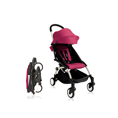 Passeggini - YoYo Plus 6+ mesi Pink - struttura bianca by Babyzen